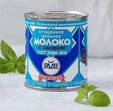 Рогачев Молоко цельное сгущенное с сахаром 8,5% 380гр, ГОСТ 31688-2012