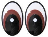 """Глазки винтовые """"овал"""" 26 х 39 мм арт. 431-212 (коричневый)"""