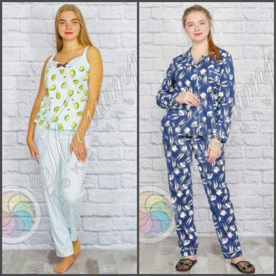 Палитра⭐Трикотаж для всей семьи❗️Спецодежда / Униформа❗️  — Пижамы Женские — Сорочки и пижамы
