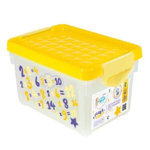 Ящик для хранения сокровищ, 5,1 л, пластик, желтый, 162 х 272 х 184 мм, PLAY&LEAM, 1/8