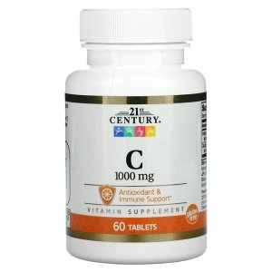 21st Century, витамин C, 1000 мг, 60 таблеток