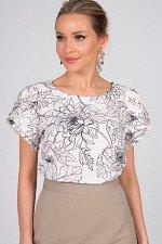 Блузка Мелисса №71.Цвет:молочный/черный