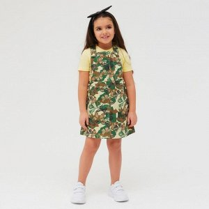 Сарафан для девочки, цвет зелёный, рост 110 см (5 лет)