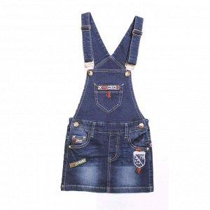Сарафан джинсовый для девочек, рост 128 см