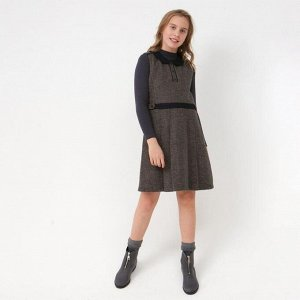 Сарафан для девочки, цвет коричневый, 104-110 см (110)