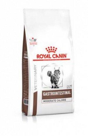 Royal Canin Gastro-Intestinal Moderate Calorie диета сухой корм с умеренным содержанием энергии для кошек от 1 года с нарушением пищеварения, 2кг