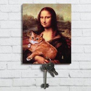 "Ключница ""Мона Лиза с котиком"" 13 x 16 см"