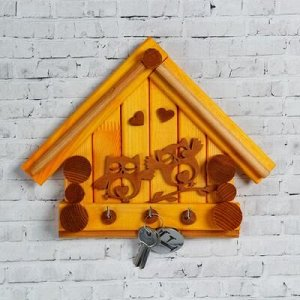 """Ключница деревянная """"Дом. Совушки"""", 25x 20 см"""