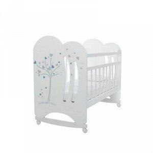Кровать детская WIND TREE колесо-качалка, цвет белый