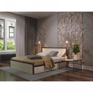 Кровать Яна с основанием и ящиками, с/м 1600*2000, Венге/Белфорт