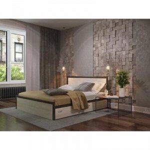 Кровать Яна с основанием и ящиками, с/м 1400*2000, Венге/Белфорт