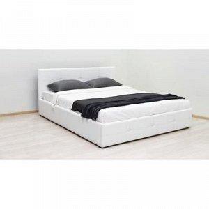 Кровать Синди с/м 1600х2000, ортопедическое осн+ПМ+дно ЛДСП, Кожхам Белый