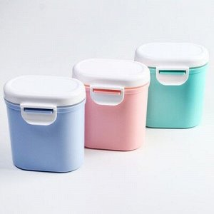 Контейнер для xранения детского питания, с ложкой, цвет МИКС