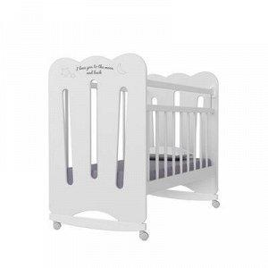 Кровать детская Desire колесо-качалка (белый) (1200x600)