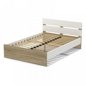 Кровать 140 (с орт.основанием) Эксон 1456х842х2048, белый/дуб сонома