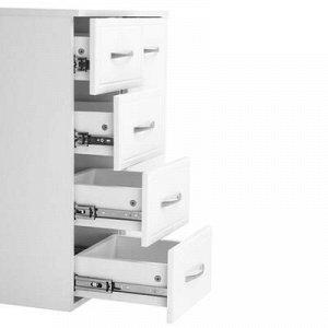 Комод Классик 60 с 4-мя ящиками Белый, 60,4 x 32,5 x 81,6 см
