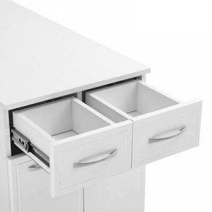 Комод Классик 50 с 2-мя ящиками Белый, 50,4 x 32,5 x 81,6 см