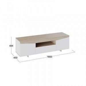 Тумба под ТВ-1 484x1600x450 Белый Ясень/ Дуб Сонома