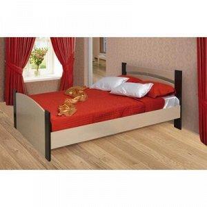 Кровать, 160 ? 200 см, цвет дуб молочный / венге