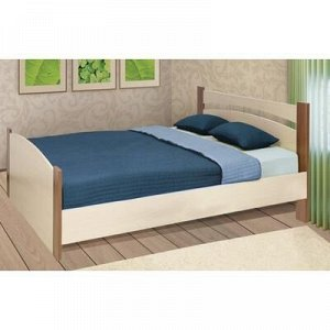 Кровать, 160 ? 200 см, цвет дуб молочный / ясень шимо тёмный