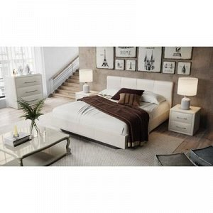 Кровать Элис с мягкой обивкой №1 1600х2000 Светлая