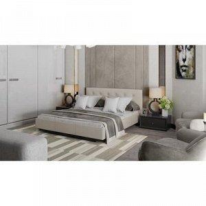 Кровать Элис с мягкой обивкой №2 1600х2000 Серо-бежевый