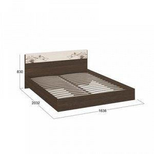 Кровать Мишель 1600х2000 Венге Цаво/Дуб Белфорт с рисунком
