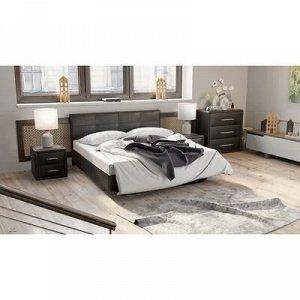 Кровать Элис с мягкой обивкой №1 1600х2000 Темная