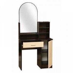 Стол туалетный «Надежда-М 09», 804 ? 390 ? 1650 мм, зеркало, цвет венге / клён азия