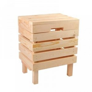 Ящик для овощей и фруктов, 30 ? 40 ? 50 см, деревянный, с крышкой