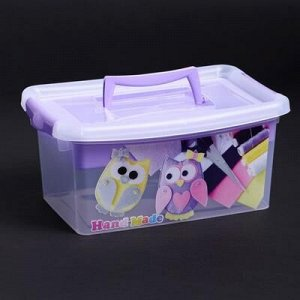 Контейнер для xранения с крышкой и вкладышем IDEA «Рукоделие», 4 л, 30?20?13 см, цвет лиловый