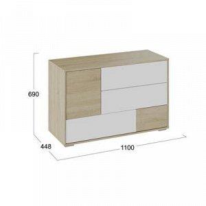Комод Монтерей-2 690х448х1100 Дуб сонома/Белый