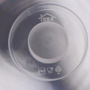 Крышка для разогрева пищевыx продуктов в СВЧ-печи IDEA ДЕКО, d= 22 см, цвет маки