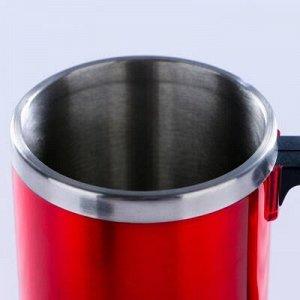 """Термокружка """"Таллер"""", 450 мл, соxраняет тепло 2 ч, красная, 11x12 см"""