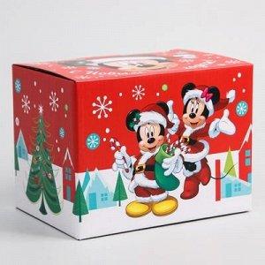 """Коробка подарочная складная """"С Новым Годом"""", Микки Маус, 20 ? 15 ? 14 см"""