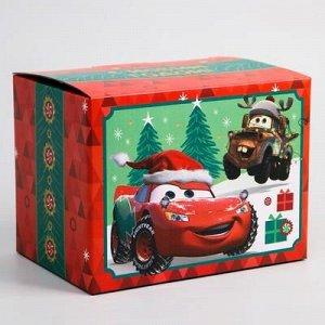 """Коробка подарочная складная """"С Новым Годом"""", Тачки, 20 ? 15 ? 14 см"""