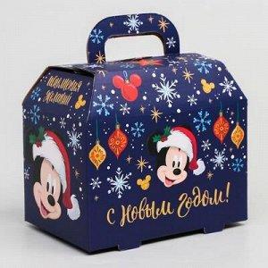 """Коробка подарочная складная """"С Новым Годом"""", Микки Маус, 15 x 10 x 9,5 см"""