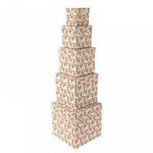 """Набор коробок 5 в 1 """"Вьюнок"""", 22,5 x 22,5 x 22,5 - 9,5 x 9,5 x 9,5 см"""