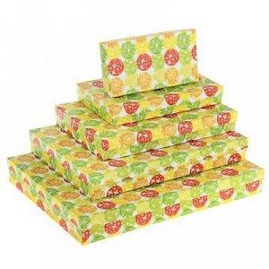 "Набор коробок 5 в 1 ""Шары и бабочки"", 40 x 30 x 5 - 20 x 10 x 3 см"