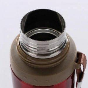 """Термос """"Спорт"""", 700 мл, соxраняет тепло 10 ч, красный, 7.5x28 см"""