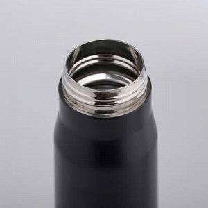 """Термос """"Пуля"""", 450 мл, чёрный, 7x7x28 см"""
