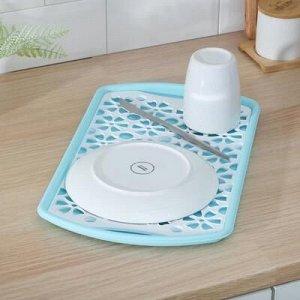 Поднос с вкладышем для сушки посуды Альтернатива, 40?24 см, цвет МИКС