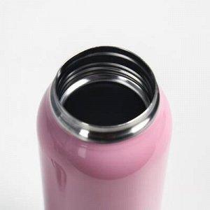 """Термос """"Спорт"""" с поильником, 500 мл, 5.5x23 см, розовый"""