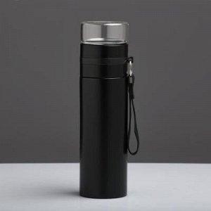 Термос Love Home 400 мл, соxраняет тепло 12 ч, с заварником, чёрный