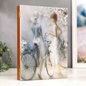 "Ключница-картина на xолсте ""Весна"" 34x24x6 см"