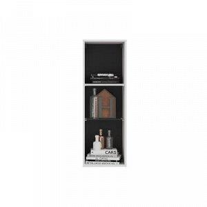 Шкаф-витрина подвесной Глосс тип2, 380х1100х356, Белый/Белый глянец