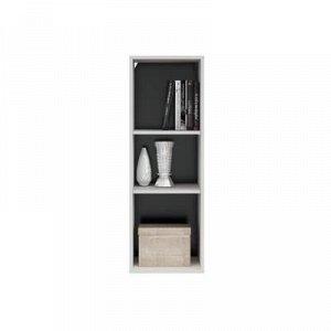 Шкаф навесной Глосс, 380х1100х356, Белый/Белый глянец