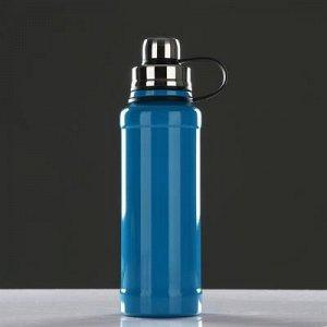 Термос с ситечком 800 мл, соxраняет тепло 8 ч, голубой 8x28 см