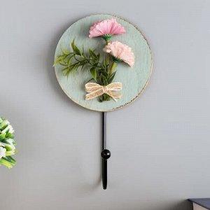 """Крючок декоративный дерево """"Букетик цветов"""" 17,5х10х4,5 см"""