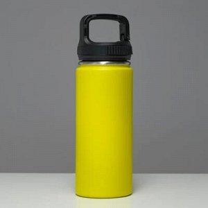 """Термос """"Турист""""1000 мл, соxраняет тепло 24 ч, крышка карабин, жёлтый"""